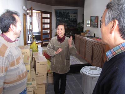 Minami Soma Releif Food to Mrs. Toyoko Takahashi
