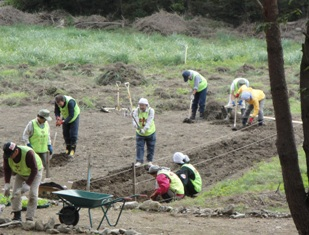 Higashi Nippon Disaster Otsuchi Land Cleaning
