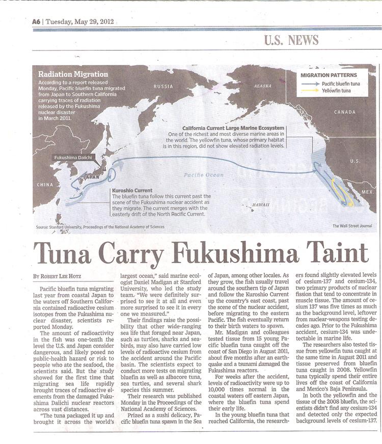 20120529 WSJ Tuna Carry Fukushima Taint