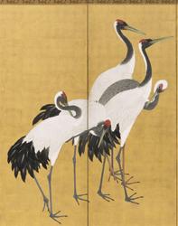 Maruyama Okyo Cranes