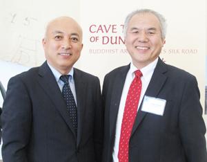 Dr. Wang, left, and Shige Higashi, Cultural News