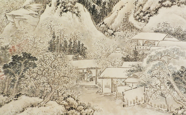 "Ikegami Shuho (1874 -1944): Landscape after Shen Zhou's (1427 – 1509) ""Clearing after Snow over Rivers and Mountains,"" (Detail). 1925. (Courtesy of USC Pacific Asia Museum)"