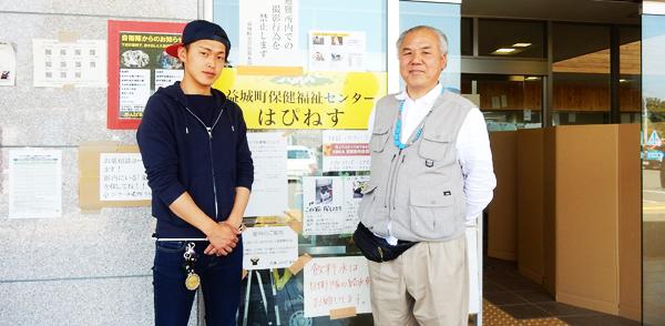 益城町の避難所を訪れたカルチュラル・ニュース編集長東繁春(2016年4月30日)
