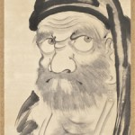 Taikan Monju (1766 – 1842) Bodhidharma (Daruma) 1836, Hanging scroll: ink on paper. Gift of Leslie Prince Salzman.  Photo © Museum Associates/LACMA