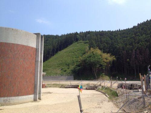 大川小学校の裏山