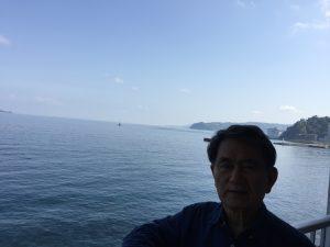 静岡県熱海のMOA美術館から見える紺碧の海 (Photo by Toshio Handa)