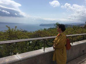 静岡県熱海にあるモア美術館からの眺望(Photo by Toshio Handa)