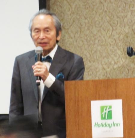 プリンストンから講演に来た目良浩一先生(Cultural News Photo)