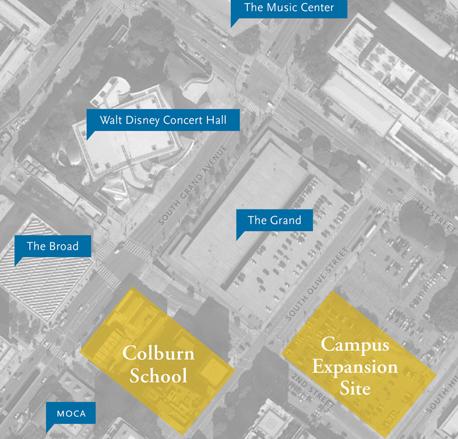 Colburn School Campus Expansion Map, Los Angeles Colburn School, Campus Expansion, New Site, Map