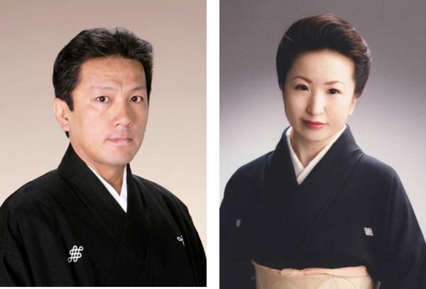 日本の第一線で活躍する演奏家お二人を迎えて: 西洋音楽の歌唱法を取り入れた三味線音楽 ―「大和楽」。その三代目を継ぎ、複数の受賞に輝く大和櫻笙 (写真=右)。また240年歌舞伎の囃子を継承する家系に生まれ、人間国宝、堅田喜三久を父に、第一線で活躍する堅田新十郎IV (写真=左)。この二大演奏家がロスで夢の共演をする。