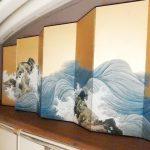 山跡鶴嶺(やまあと・かくれい)の京都「保津川」の屏風